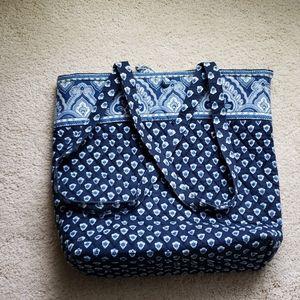 Blue Vera Bradley tote bag